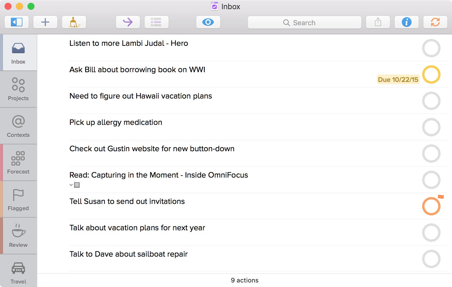 The OmniFocus Inbox